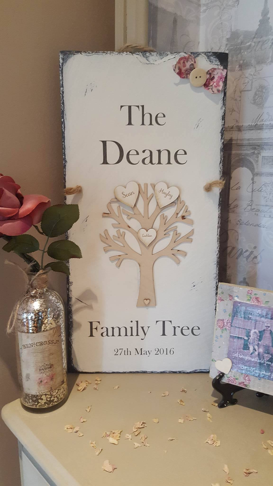 Handmade Baby Gifts Ireland : Family tree rosabelle craftique
