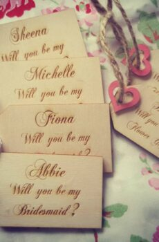 Flower Girl & Bridesmaid Tags