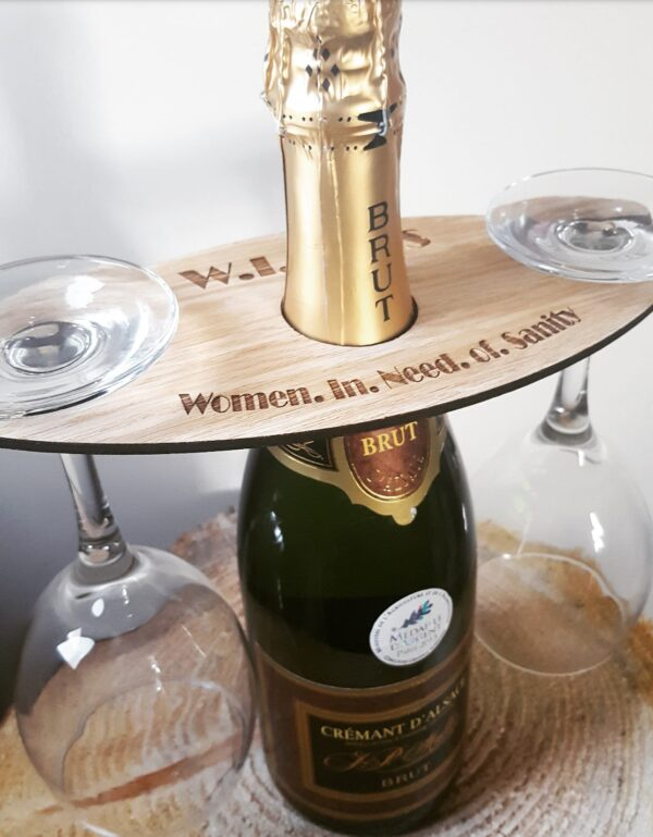 Glass & Wine Holder