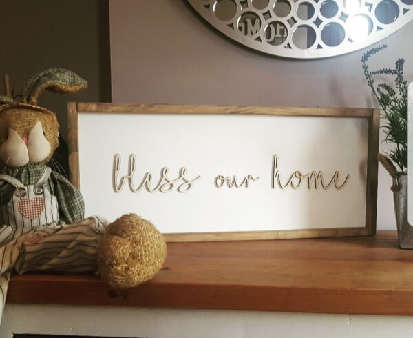 Rustic Frame Sign