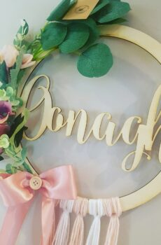 Floral Name Wreath